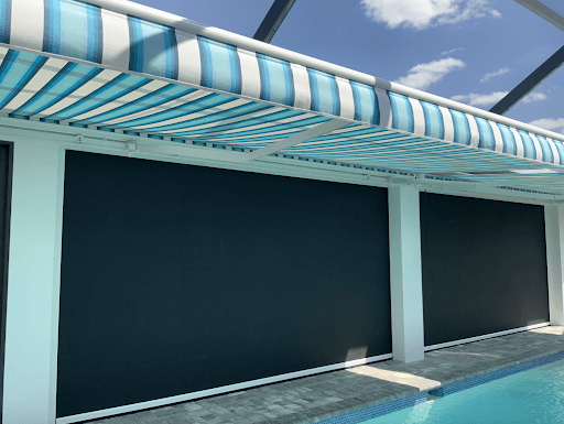 choosing retractable awning fabric in tampa florida | sun protection