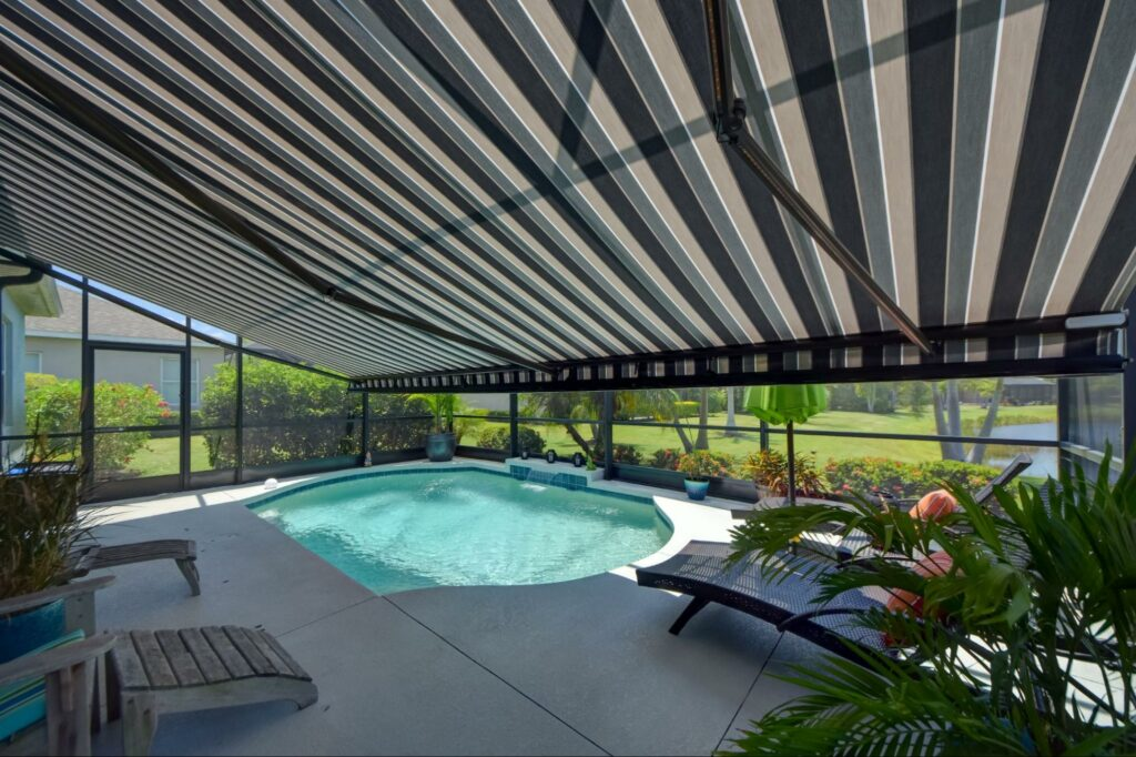 tips for cleaning and maintaining your retractable motorized awning in tampa, florida, motorized retractable awning | sun protection